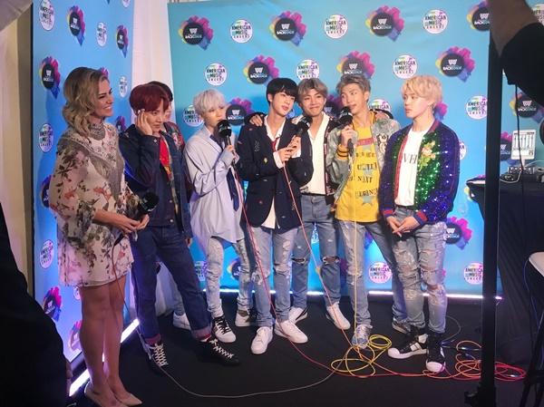 Выступление группы BTS вошло в список лучших моментов AMA 2017