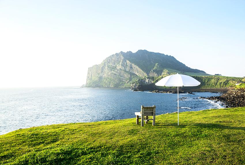 濟州美麗的大海