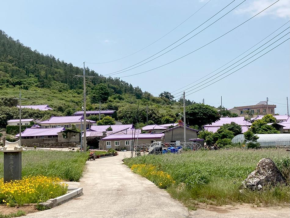 島内にある住宅もパープル(半月島)