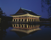 Night view of Gyeonghoeru Pavilion