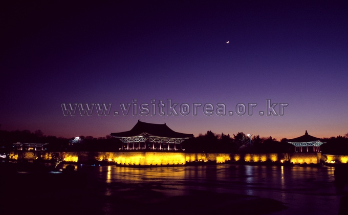 Sunset of Anapji Pond