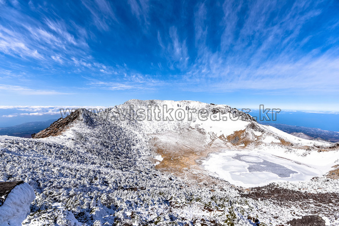 Winter Wonderland at Baengnokdam Crater Lake