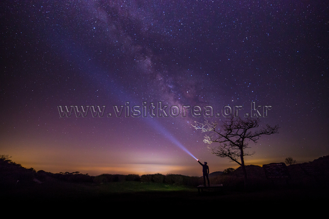 Milky Way of Hwangmaesan Mountain