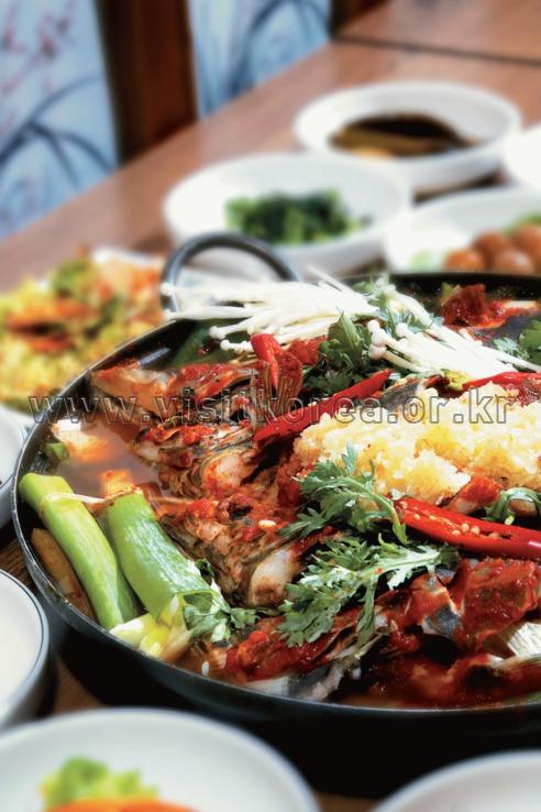 Ssogari Maeuntang (Spicy Mandrin Fish Stew)