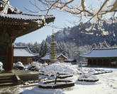 Woljeongsa Temple in Pyeongchang