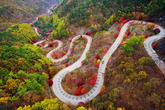 Winding through Fall Foliage