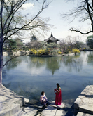 Hyangwonjeong Pavilion in Spring