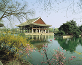 Gyeonghoeru Pavilion in Spring 