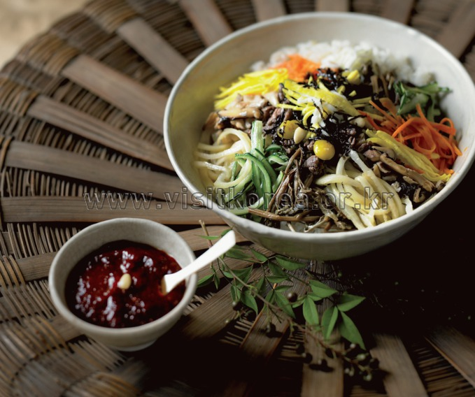 Bibimbap-Rice Topped with Assorted Vegetables
