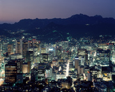 Night view of Seoul 