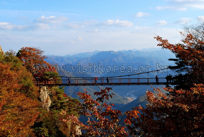 Fall Cloud Bridge of Mt. Daedunsan