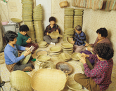 Making Bamboo Baskets