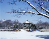 Hyangwonjeong Pavilion in Winter