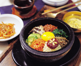 Food, Dolsot Bibimbap,Rice in Hot Stone,Dish Topped with Assorted Vegetables