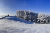 Snow Scenery of a Farm