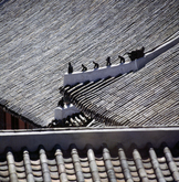 Traditional Korean Tiled Roof