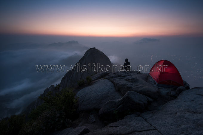 Sunrise at Bukhansan Mountain
