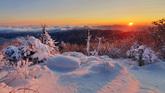 Snow Covered Deogyusan Mountain