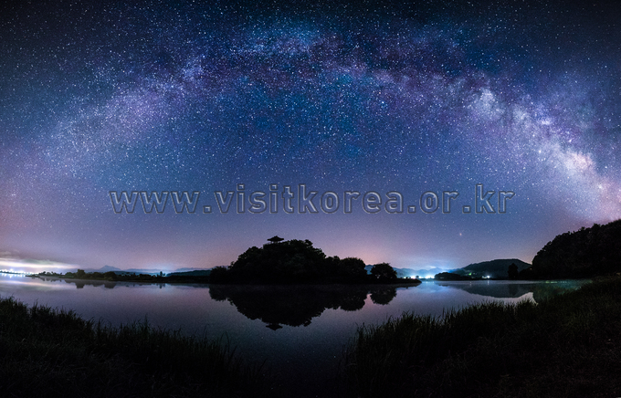 Milky Way over Sangchunjeong Pavilion