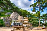 Rock-carved Buddhas at Chilburam Hermitage in Namsan Mountain, Gyeongju
