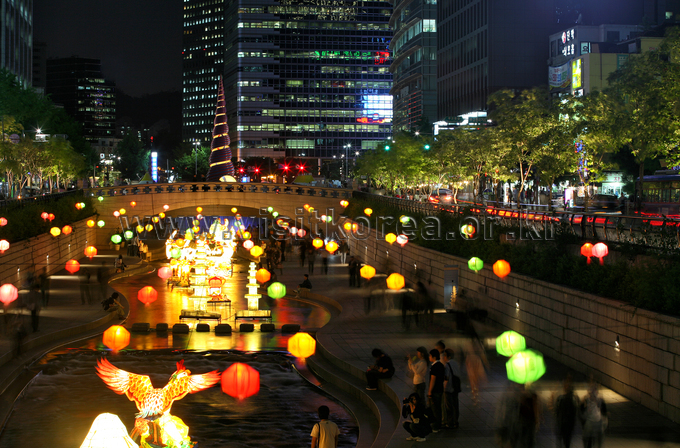 Cheonggyecheon Stream Night View