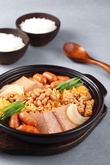Budaejjigae (Pot Luck Stew with Hot Dogs and Baked Beans)