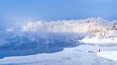 Snow Covered Okjeongho Lake