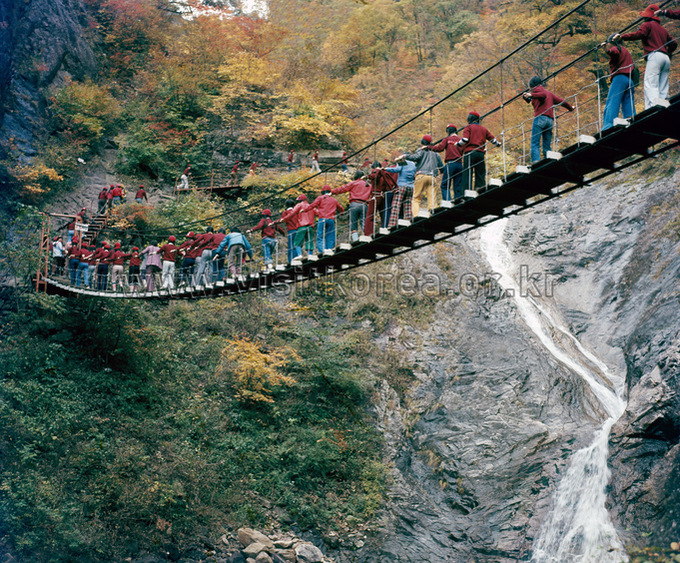 Biryonggyo Bridge and Yugdam Waterfall