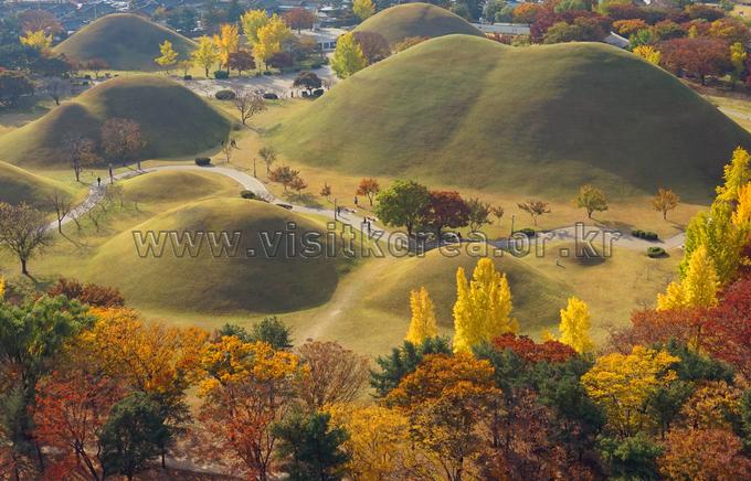 Autumn Sunlight on Royal Tombs
