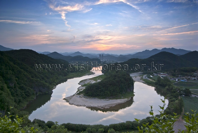 the Korean peninsula landform in Yeongwol