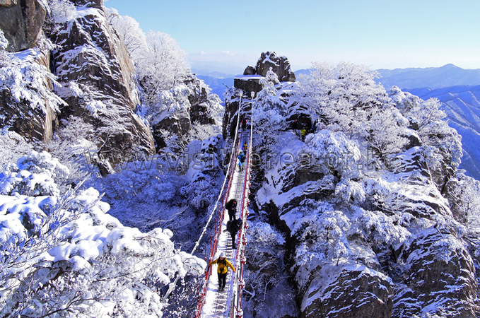 Snowscape of Daedunsan Mountain