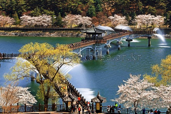 Spring in Woryeonggyo Bridge