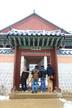Tourist at Gyeongbokgung Palace