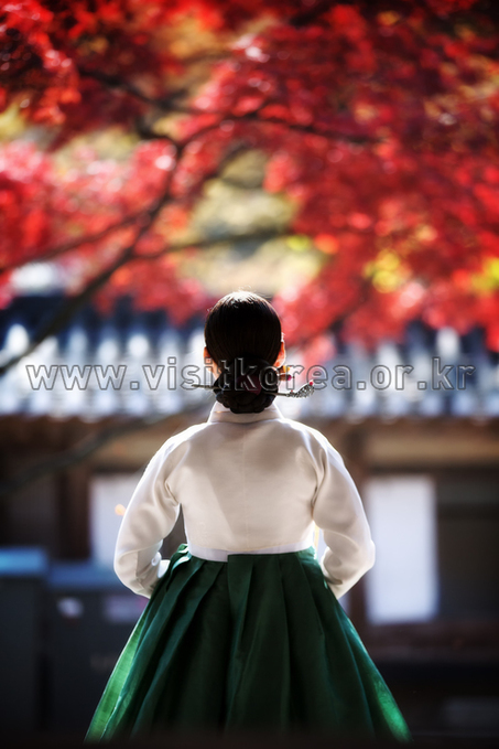 Lady in Huwon Garden