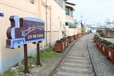 Gyeongam-dong railroad tracks and village