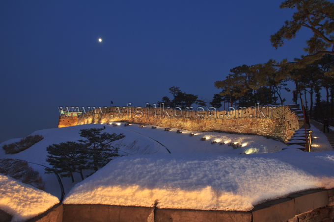 Moonlit Hwaseong Fortress