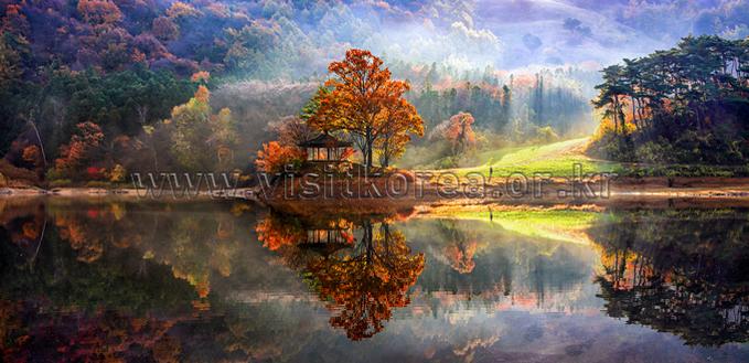 Autumn of Yongbiji Reservoir
