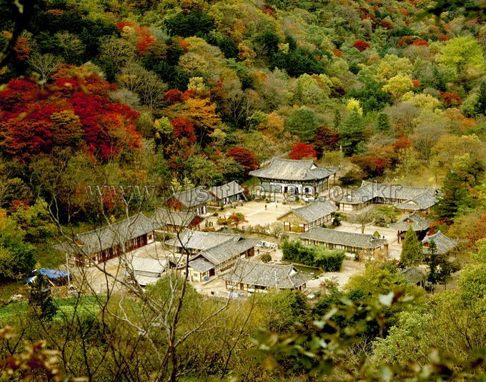 Baekyangsa Temple in Autumn