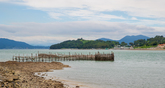 Bamboo Fishing Weir at Jijok Strait, Namhae