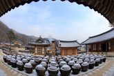 Snowscape of a Hanok