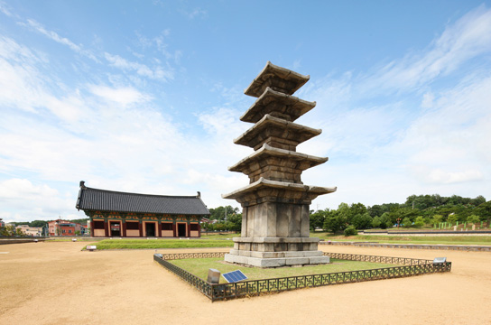 Jeongnimsaji (Jeongnimsa Temple Site) • Five-story Stone Pagoda at Jeongnimsa Temple Site, Buyeo