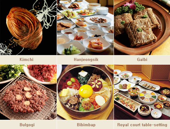 Major Korean foods