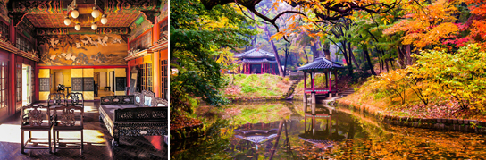 Photo: Daejojeon Hall (left) / Huwon Garden (right)
