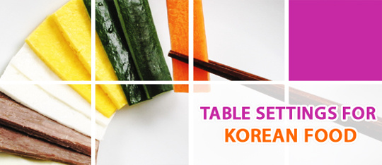 table settings for korean food