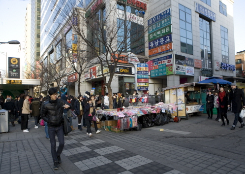 photo about Sinchon / Hongik Univ.