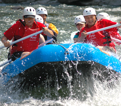 Rafting on Naerincheon Stream, Gangwon-do