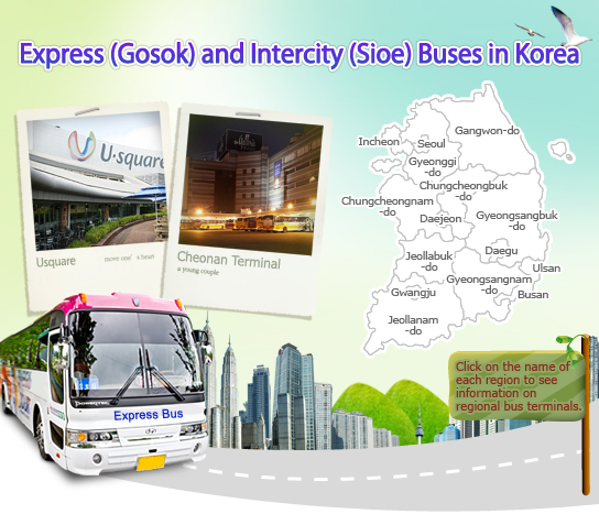 Express (Gosok) and Intercity (Sioe) Buses in Korea