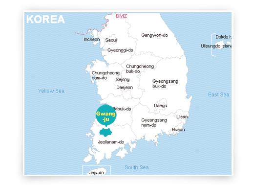 corea map