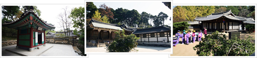 There are a total of three images, and left the House, Gangneung in order from the Seongyojang House photos, photography, traditional Hanok House Temple Tour came to children's photography.