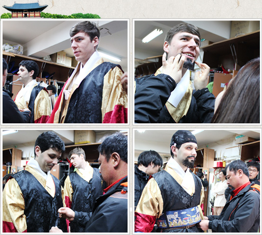 Deoksugung Palace ceremony costumes to try on and seeing the beard to the foreigners see photos 1, 2, 3, 4